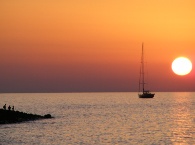 Sonnenuntergang PIscità Stromboli