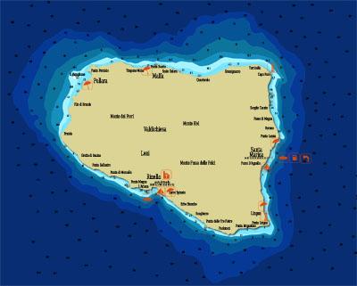Mappa nautica Salina