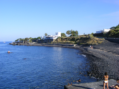 Stromboli beach at Ficogrande