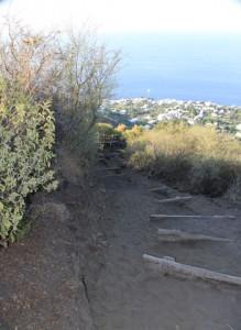 sentiero per il cratere dello Stromboli