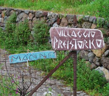 villaggio preistorico di capo  graziano Filicudi